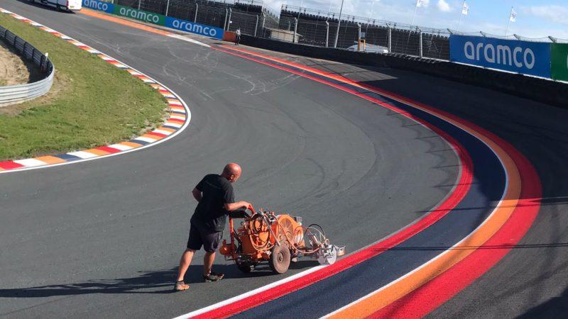 roadgrip track line painting zandvoort
