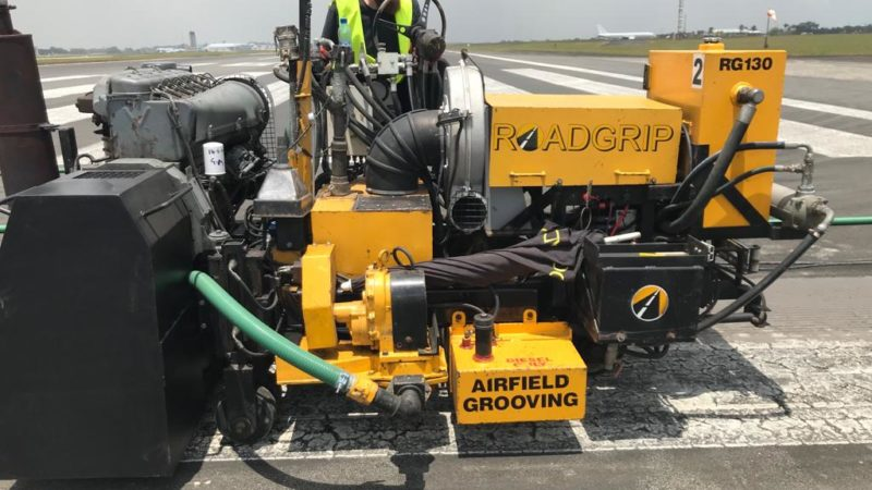 runway grooving machine roadgrip