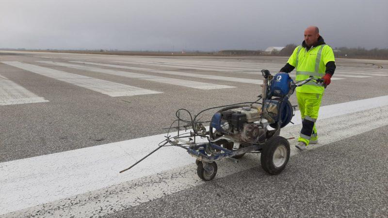 runway line repainting