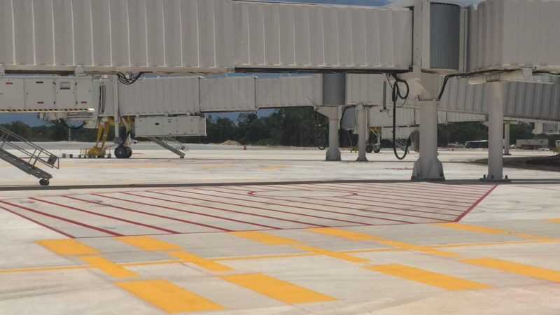 runway painting cancun