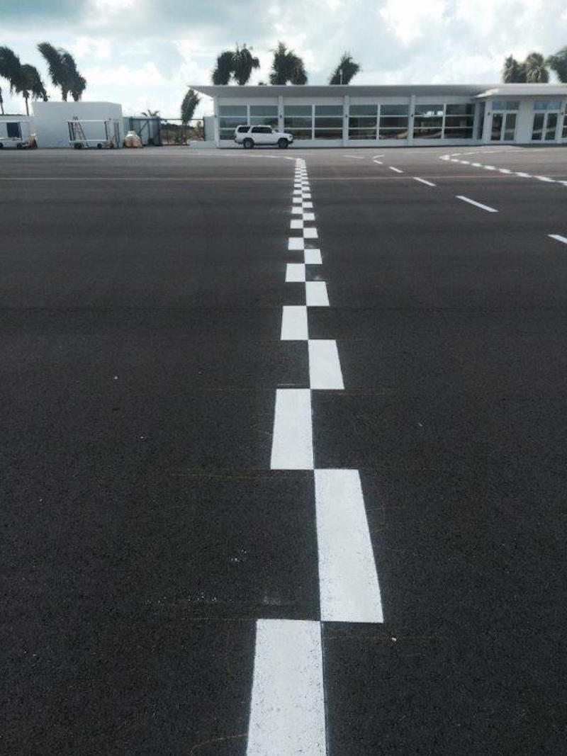 Airfield Marking At Lynden Pindling Nassau Airport