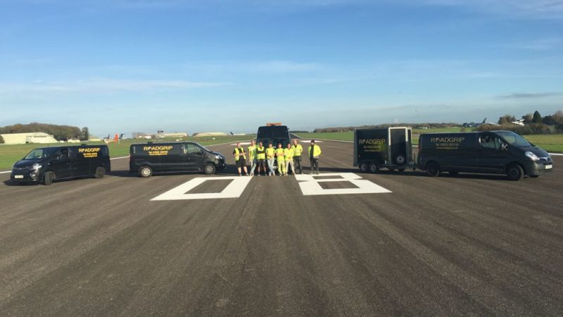 runway painting by roadgrip for Cotswold airport