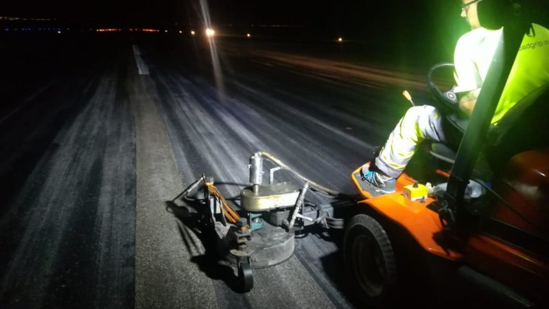 runway rubber removal curacao