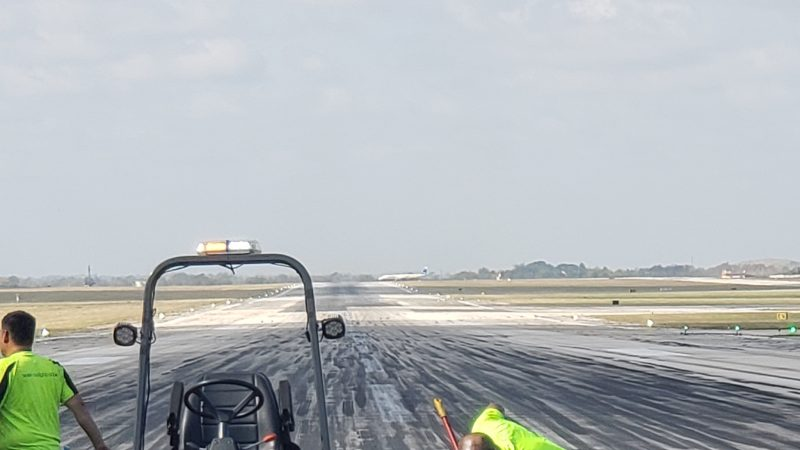runway rubber removal safety