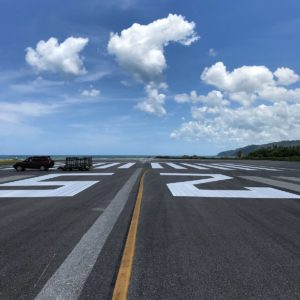 airport markings at samana