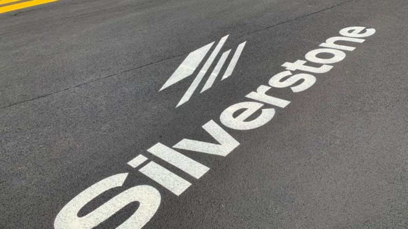 silverstone track graphic painting
