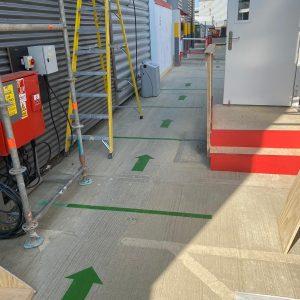 social distancing floor markers covid