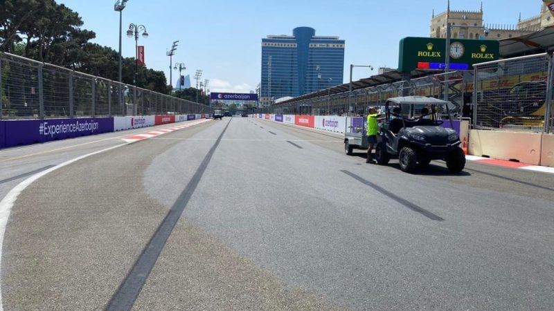 street circuit preparation Baku