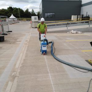 surface preparation shot blasting