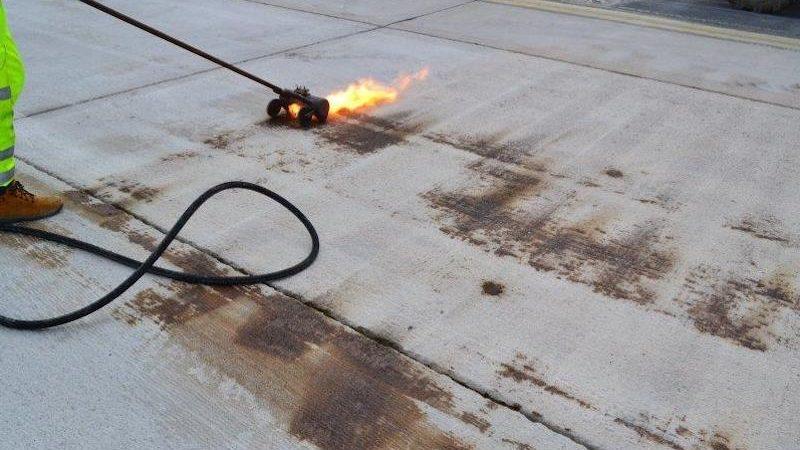 surface preparation runway resin roadgrip