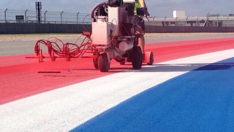 track marking F1 US GP COTA