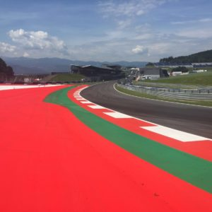 track marking redbull ring