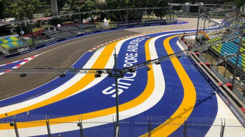 track marking singapore f1 2019