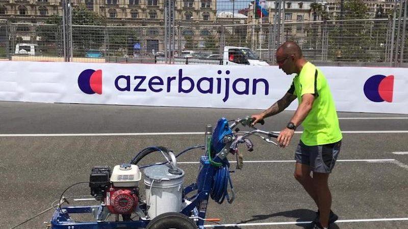 track painting azerbaijan F1
