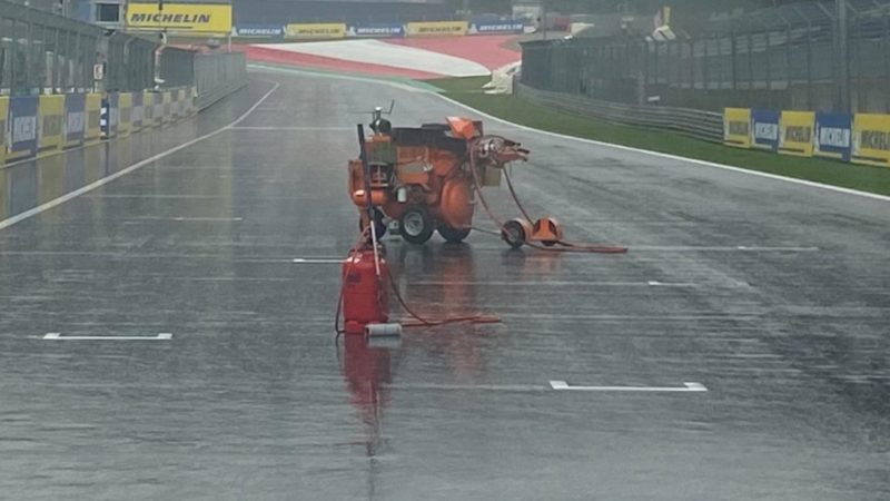 track painting in the rain roadgrip