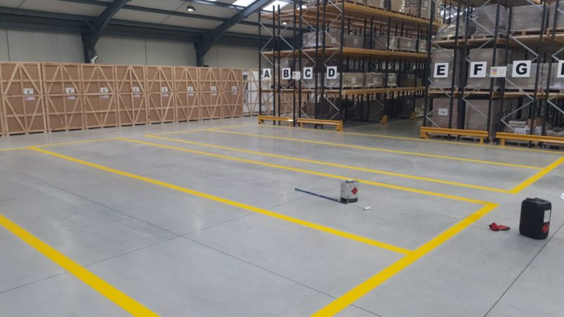 warehouse safety marking