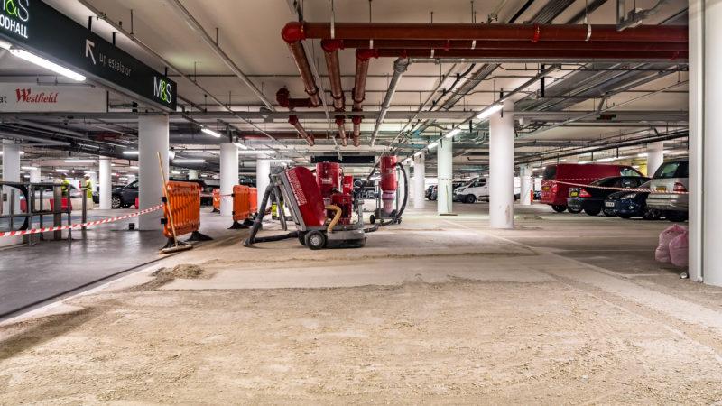 westfield car park floor removal