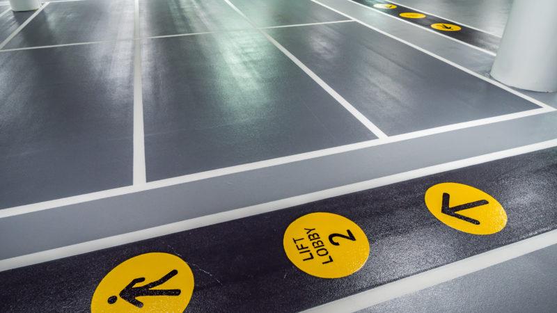 westfield car park marking